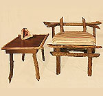 Beaver chair & table